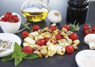 Halloumi Käse mit Pilzen – halloumi with mushrooms